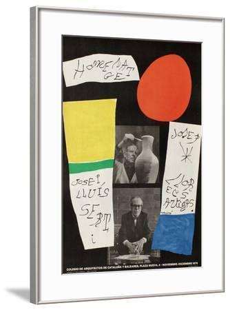 Hommage a Sert et Artigas-Joan Mir?-Framed Collectable Print
