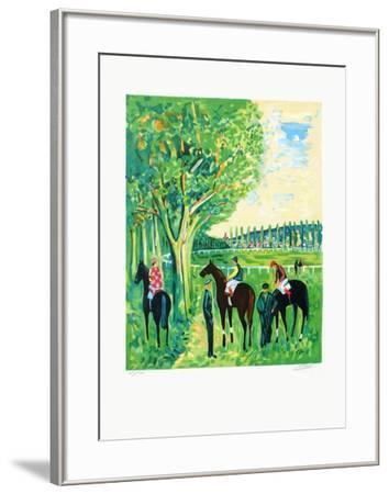 Chevaux a Deauville-Jean-claude Picot-Framed Limited Edition