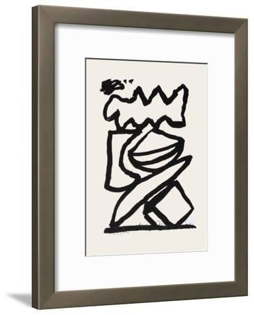 Composition 125-Jean-pierre Pincemin-Framed Limited Edition