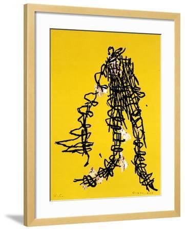 Yellow exalte-Bernard Quesniaux-Framed Limited Edition