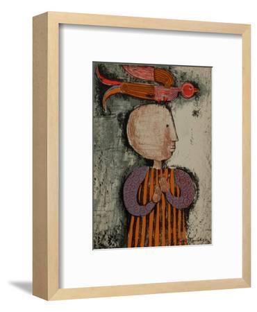 Enfant avec un oiseau I-Graciela Rodo Boulanger-Framed Collectable Print
