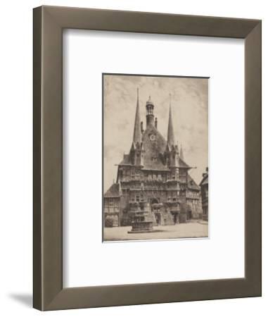 Wernigerode - Rathaus-Bruck-Framed Collectable Print