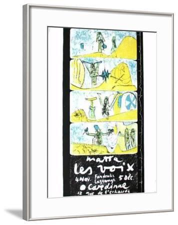 Les Voix-Roberto Matta-Framed Premium Edition