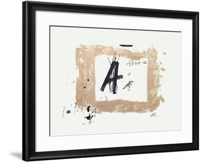 Lettre A-Antoni Tapies-Framed Collectable Print