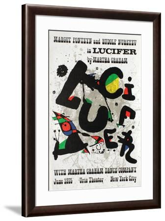 Lucifer in Uris Theater-Joan Mir?-Framed Premium Edition