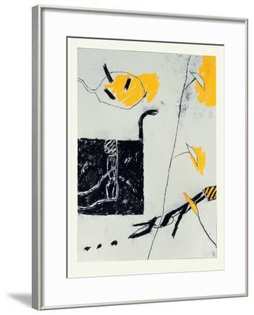 Noir Blanc Gris Jaune I-Francois Bruetschy-Framed Limited Edition
