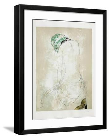 Le Foulard Vert-Jean Jansem-Framed Limited Edition