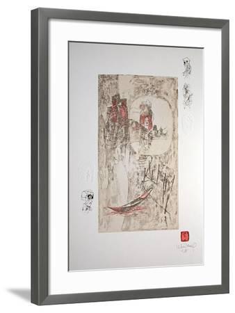 Paysage Fantastique V-Lebadang-Framed Collectable Print