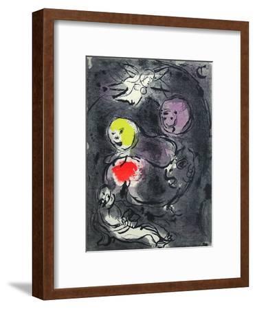 Bible: le Prophete Daniel Avec les Lions-Marc Chagall-Framed Premium Edition