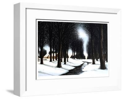 Neige sous les arbres-Jacques Deperthes-Framed Limited Edition