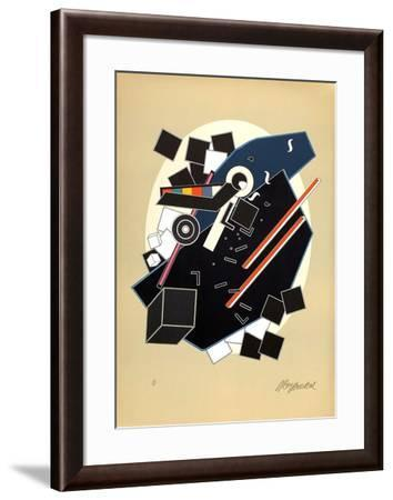 Composition au L-Alain Le Yaouanc-Framed Limited Edition