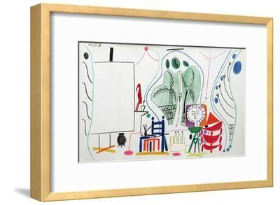 Carnet de Californie 29-Pablo Picasso-Framed Premium Edition