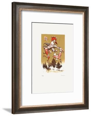 Composition Surrealiste V-Jules Perahim-Framed Limited Edition