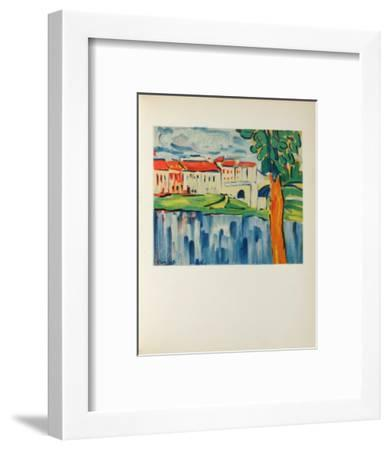 Le Pont de Chatou, 1906-Maurice De Vlaminck-Framed Collectable Print