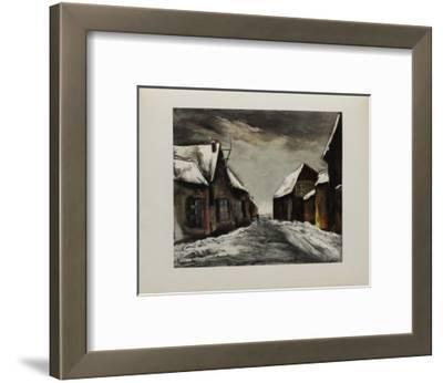 Allainville Sous la Neige, 1946-Maurice De Vlaminck-Framed Collectable Print