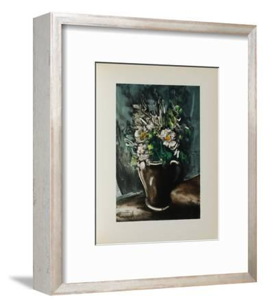 Fleurs au Pot de Gres, 1955-Maurice De Vlaminck-Framed Collectable Print