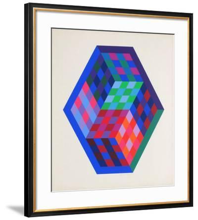 Album Gordes - Tridim-Victor Vasarely-Framed Limited Edition
