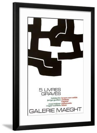 Cinq Livres Graves-Eduardo Chillida-Framed Collectable Print