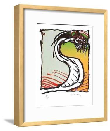 Genou dans la Robe-Pierre Alechinsky-Framed Limited Edition