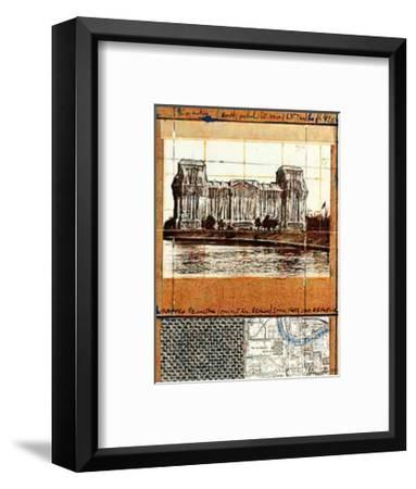 Wrapped Reichstag XII-Christo-Framed Collectable Print
