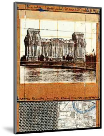 Wrapped Reichstag XII-Christo-Mounted Collectable Print