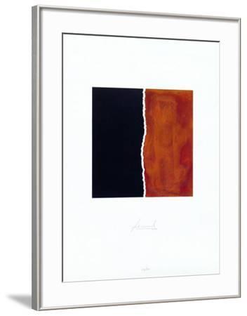 Zerrissen Schwarz-Juergen Freund-Framed Limited Edition