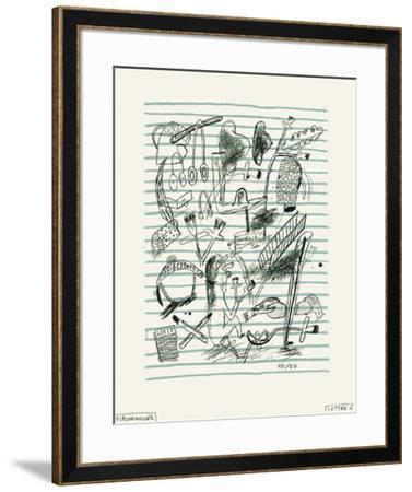 Lettre-Jacques Flechemuller-Framed Limited Edition