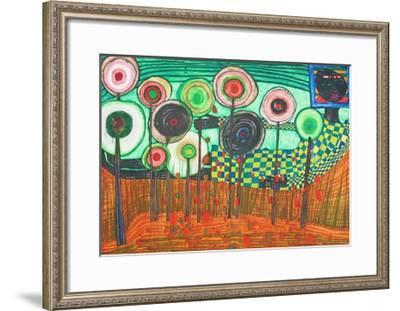 Black Girl, Discovery in the Kingdom of the Toros-Friedensreich Hundertwasser-Framed Collectable Print