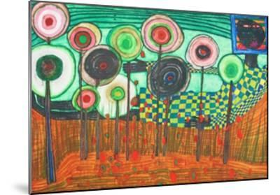 Black Girl, Discovery in the Kingdom of the Toros-Friedensreich Hundertwasser-Mounted Collectable Print