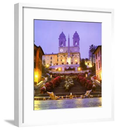 Piazza di Spagna - Rome-John Lawrence-Framed Art Print