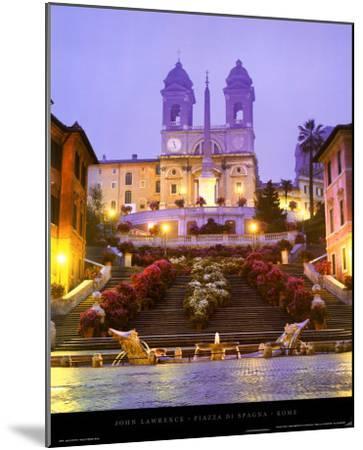 Piazza di Spagna - Rome-John Lawrence-Mounted Art Print