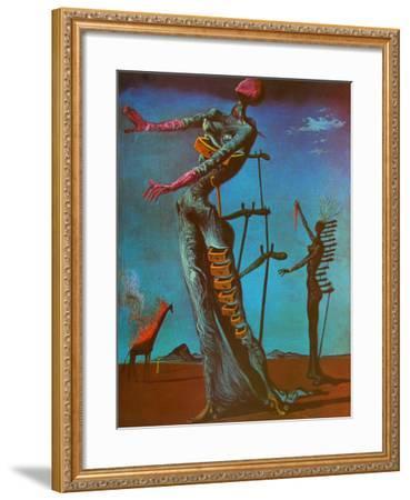 The Burning Giraffe, c. 1937-Salvador Dal?-Framed Art Print