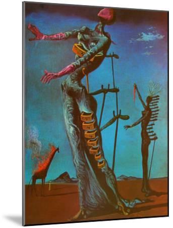 The Burning Giraffe, c. 1937-Salvador Dal?-Mounted Art Print