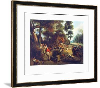 Hunting a Sow-Eugene Delacroix-Framed Collectable Print