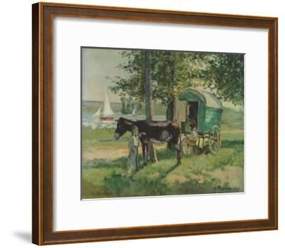 Gipsy Waggon-Camille Pissarro-Framed Collectable Print