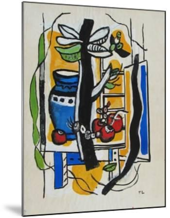 Still Life with Fruits-Fernand Leger-Mounted Collectable Print