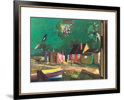 Strange Passage of Birds Over Dangast-Franz Radziwill-Framed Collectable Print