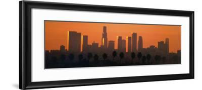 Los Angeles City at Dawn-Ren? Sheret-Framed Art Print