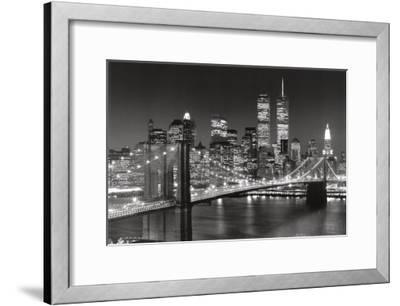 New York, New York, Brooklyn Bridge-Henri Silberman-Framed Art Print