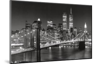New York, New York, Brooklyn Bridge-Henri Silberman-Mounted Art Print