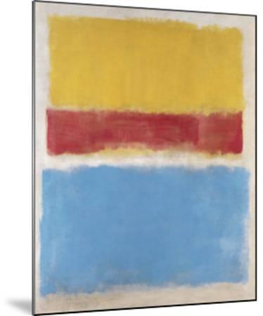 Untitled (Yellow, Red and Blue), c.1953-Mark Rothko-Mounted Art Print