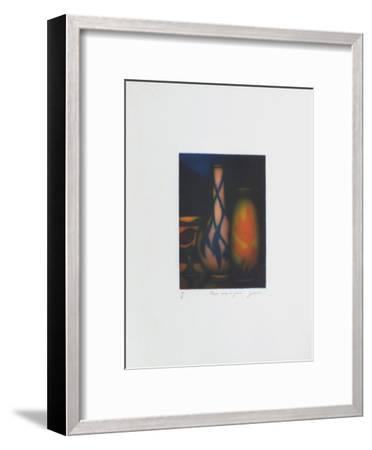 Vase rouge et jaune-Laurent Schkolnyk-Framed Limited Edition