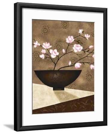 Cherry Blossom in Bowl-Jo Parry-Framed Art Print