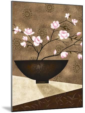 Cherry Blossom in Bowl-Jo Parry-Mounted Art Print