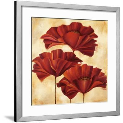 Three Poppies II-Nicola Rabbett-Framed Art Print