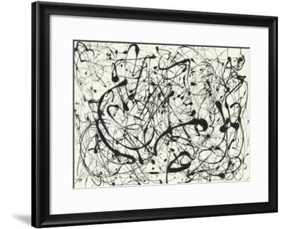 No. 14 (Gray)-Jackson Pollock-Framed Art Print