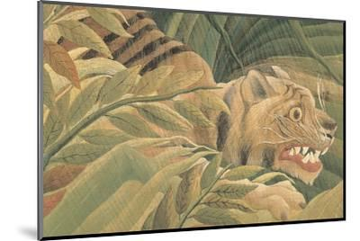 Tiger in a Tropical Storm (Surprised!), 1891 (detail)-Henri Rousseau-Mounted Art Print