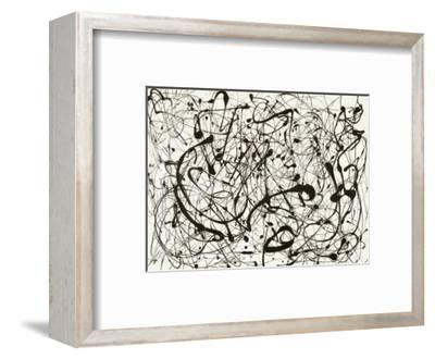 No. 14 (Gray)-Jackson Pollock-Framed Art Print