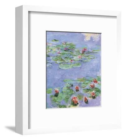 Water Lilies, c. 1914-1917-Claude Monet-Framed Art Print