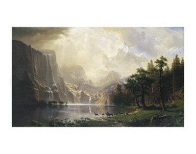 Among the Sierra Nevada, California, 1868-Albert Bierstadt-Art Print